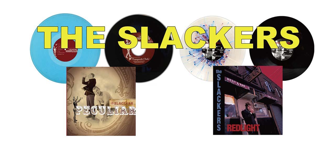 結成30 周年を間近に控えたThe Slackersが廃盤2タイトルをコレクターマストの豪華仕様でリリース!!PLS通販限定としてPeculiarのプロモ用ソノシートをプレゼント!